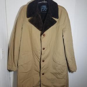 J. C. Penney Vintage Faux Fur Lined Coat Jacket